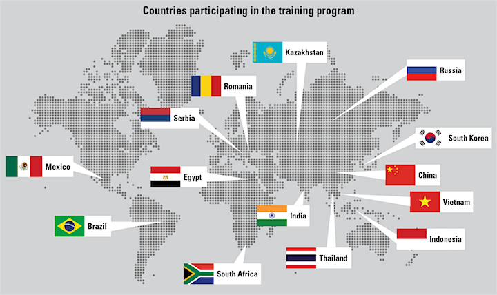 map indicating countries that participated in the BARDA program.