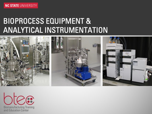 Bioprocess equipment and analytical instrumentation