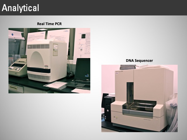 analytical PCR, DNA sequencer