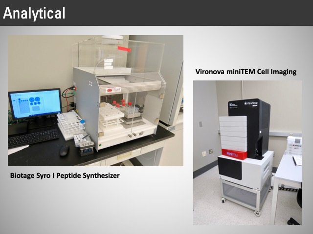 peptide synthesizer, cell imaging